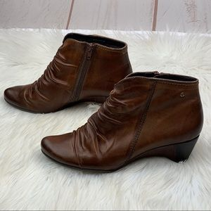 PIKOLINOS Shoes - Pikolinos | Brown Ginebra Wrinkled Leather Booties